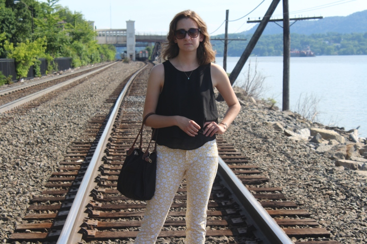 Shirt: Express Pants: Old Navy Shoes: Birkenstocks Bag: Longchamp