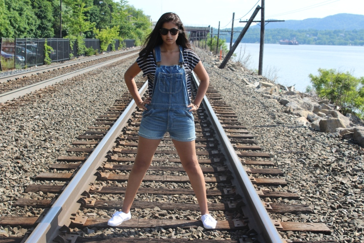 Shirt: H&M Overalls: American Eagle Shoes: Keds
