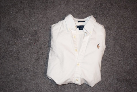 Polo Ralph Lauren White Collared Button-down