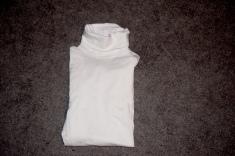 J. Crew White Tshirt Turtlneck